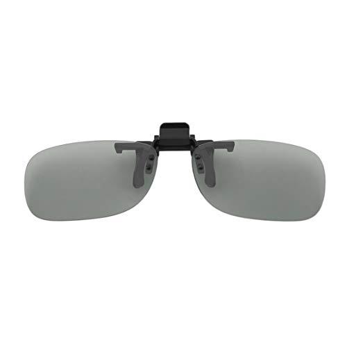 MOHAN88 Professionelle 3D-Leichtgewicht Mann Frau Clip-On-Typ Passive kreisförmige 3D-Brille Clip für 3D-TV-Film Kino - Grau