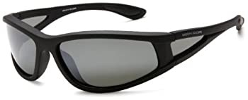 Foster Grant mens Fl1-a Sunglasses Matte Black Rubberized Frame/Smoke With Silver Mirror Flash Lens One Size US