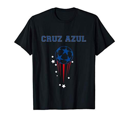 Cruz Azul Equipo Mexicano Con Balón De Fútbol Y Estrellas Camiseta