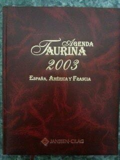 AGENDA TAURINA 2003. ESPAÑA, AMERICA Y FRANCIA: Amazon.es: EDICIONES TEMPLE, S.L.: Libros