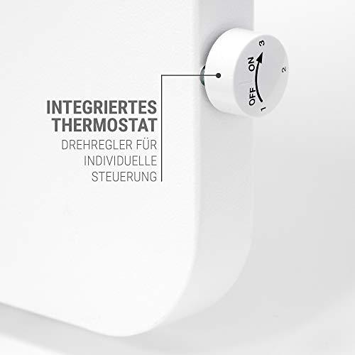 VASNER Konvi Plus Design Infrarot-Hybridheizung 600 Watt weiß re Ecken 60x60cm Thermostat Bild 3*