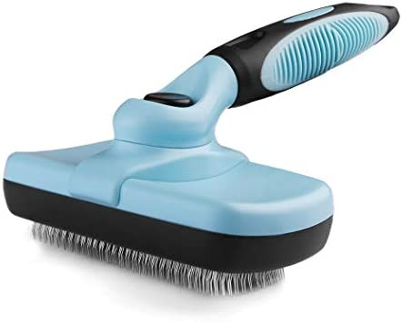 Pets First SELF CLEANING SLICKER BRUSH for PETS DOGS CATS Retractable Design for Quick Easy product image