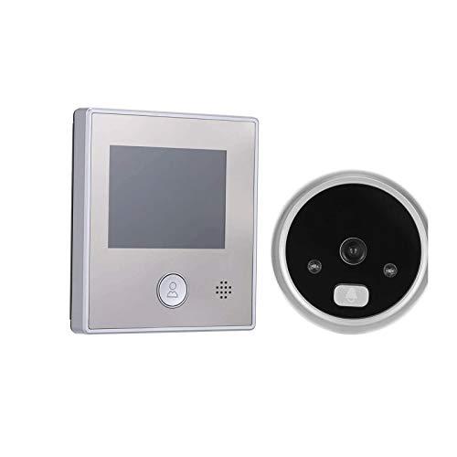 xixiBO 1.3MP Door Camera 2.8 Inch Color LCD Screen Video Door Viewer Door Eye Doorbell Photo Best for Home Hospital Office (Color : Silver, Size : 2.8in)