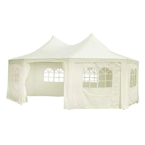BBZZ achteckiges Partyzelt 6x4,4x3,5m creme Faltpavillon Euroland Outdoor Pavillon Wasserdicht Pavillon