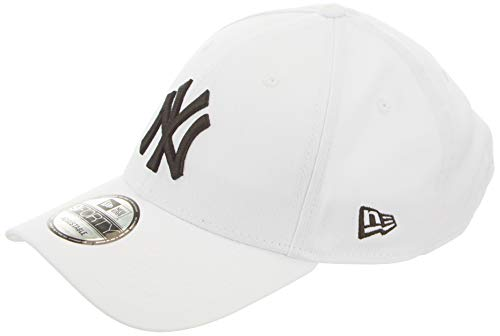 New Era MLB Basic NY Yankees 9FORTY Adjustable White Casquette Homme, Blanc, FR Fabricant : Taille Unique