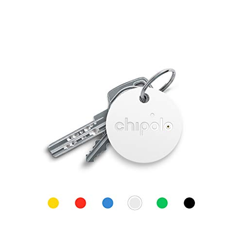 Chipolo Classic Bluetooth Schlüsselfinder und Handyfinder, Austauschbare Batterie, 92dB Laut, 60m Reichweite I Schlüssel nie wieder verlieren - (Weiß)