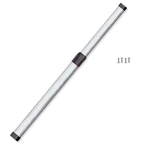 Bravatta. Barra Armario Extensible de 40 a 70 cm de Aluminio para Colgar Ropa. Varilla de Armario Extensible para Perchas.