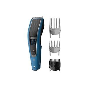 Philips Serie 5000 HC5612/15 - Cortapelos con cuchillas acero inoxidable, 28 ajustes de longitud, 75 min de uso sin cable, incluye 3 peines-guía