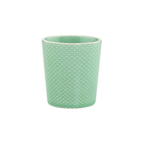 BUTLERS Hanami Teebecher in Minze mit Punkten 200 ml - Asiatische Teetasse aus Steingut - Keramik Becher, Kaffeebecher