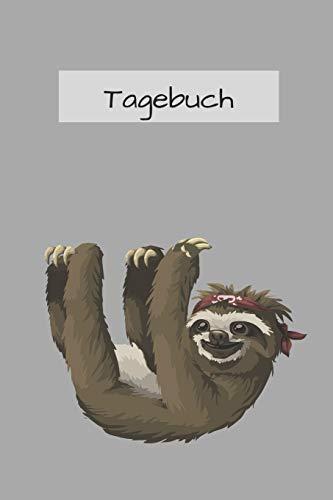 Faultier Tagebuch: mit schönem Faultier Bild   120 Seiten, dotted   lustiges Geschenk für Faultier Liebhaber   a5+