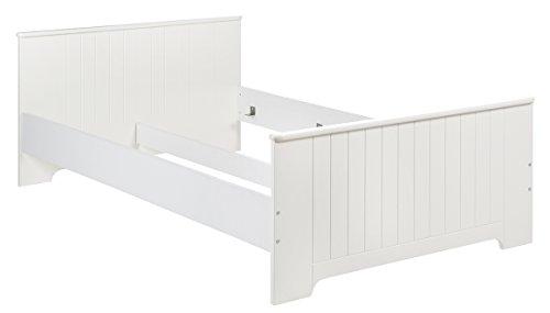 roba Jugendbett Dreamworld 3, Bett mit einer Liegefläche 120x200 cm, Kinderbett in stilvollem weiß für Kinderzimmer und Jugendzimmer