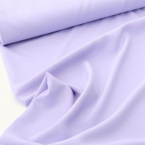 TOLKO Modestoff | Dekostoff universal Stoff zum Nähen und Dekorieren | Blickdicht, knitterarm | Meterware (Flieder-Lila)