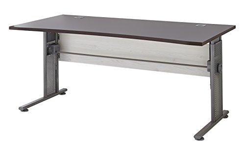 Germania 0650-230 höhenverstellbarer Schreibtisch GW-Profi in der Farbe Lärche-Nb./Eiche-Havanna-Nb., 160 x 70-80 x 80 cm (BxHxT)