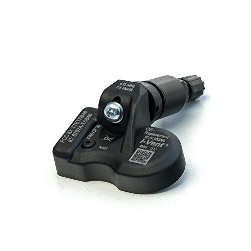 i-vent RDKS/TPMS – Sensores de presión de neumáticos compatibles con: Skoda Octavia – (período de construcción de 02/2013 a 11/2019) – Válvula de metal negro – Número OE: 5Q0907275B – 1 sensor