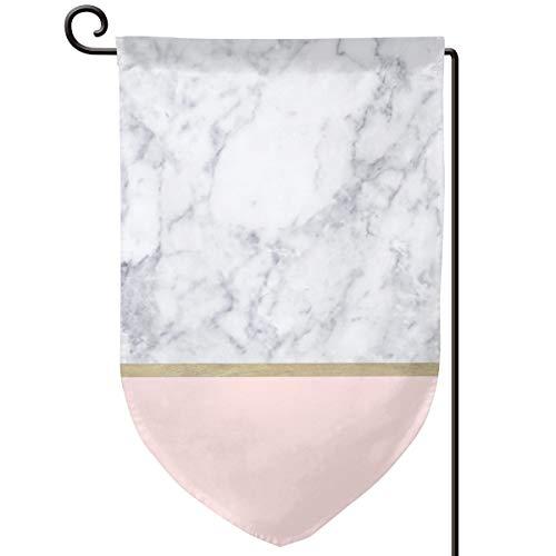 Lilyo-ltd - Bandera jardín mármol Dorado patrón