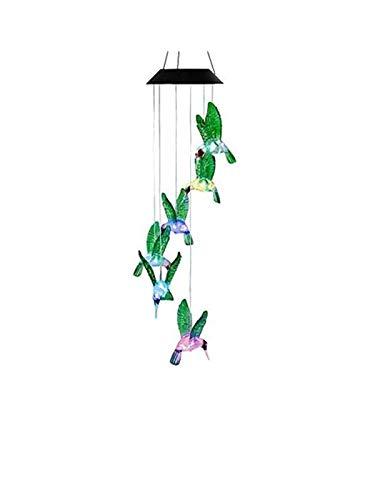 ANZOME Solarleuchten Windspiele für Außen mit Farbwechsel Solar LED s