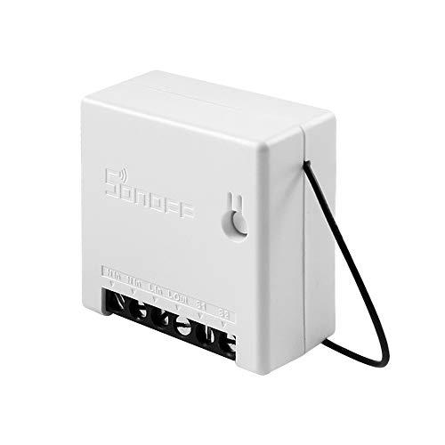 Interruptor WiFi Inteligente con Función de Temporizador DIY Mini 2 Vías Interruptor de Luz de Control Remoto App y Control de Voz Compatible con Amazon Alexa/Google Home/Nest/IFTTT