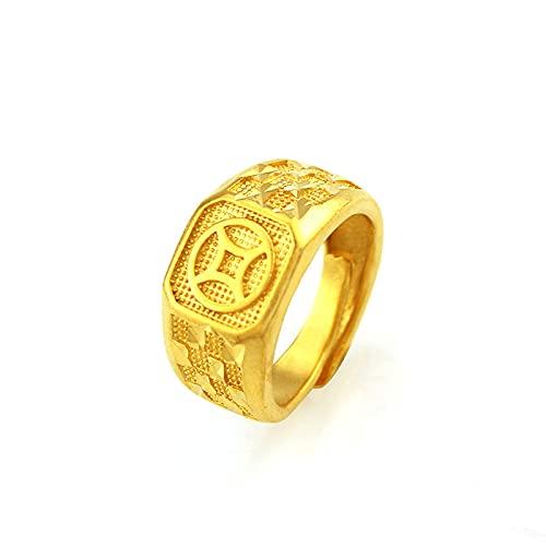 Anillo De Oro De Imitación Para Hombre Joyas De Latón Chapado En Oro
