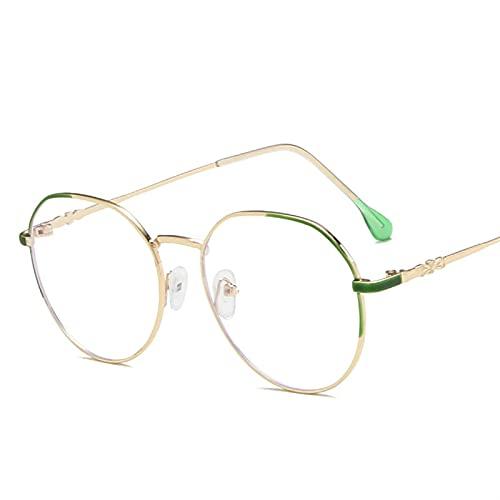 WWWL Gafas de lectura anti azul con bloqueo de luz azul y protección contra la radiación para ordenador, lentes transparentes, espejo liso, unisex, color oro rosa, talla +300