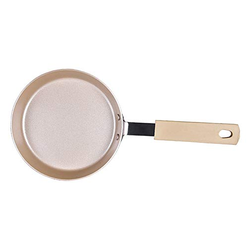 JTJxop Omelette Pan/Egg Pan, Mini Non-Stick Frying Pan, 100% PFOA-Free, with Anti Scalding Handle, for Gas Stove and Induction Hob Compatible 13.55×2.1Cm
