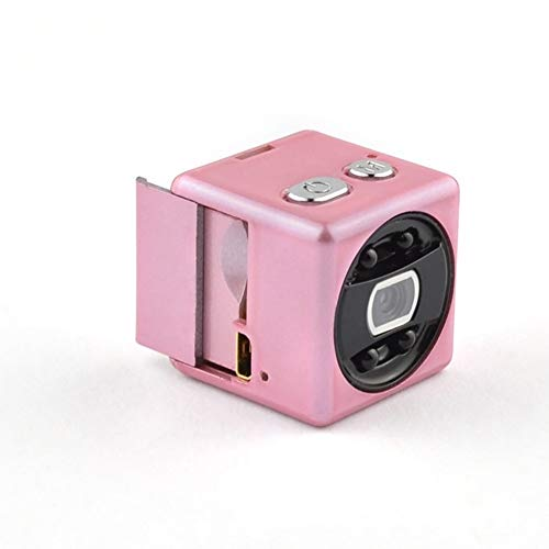 ZYJ Sport 1080P Nachtsicht Mini HD DV, HD DV-Kamera Kamera mit Magnet- und Bewegungserkennung Optionaler Sport-Mini-Recorder,Rosa