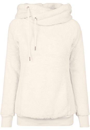 Urban Classics Ladies Long Teddy Hoody Sweatshirt Capuche, Beige (Sable 208), M Femme