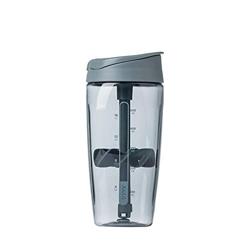 CINBOS Protein Shaker Mixer Bottle Gym Fitness and Diet Cup Men's Sports Water Cup700 ml (Grey)