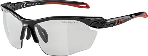 ALPINA TWIST FIVE HR VL+ Sportbrille, Unisex – Erwachsene, black-red, one size