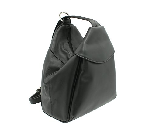 Visconti Leather Backpack Style 01721 Black
