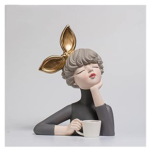 Adorno de Escritorio Linda Resina Moderna Estatua Estatua Muebles para el hogar Artesanía Decoración Café Mesa de la habitación Figuras Regalo de Boda Placa de Almacenamiento Accesorios