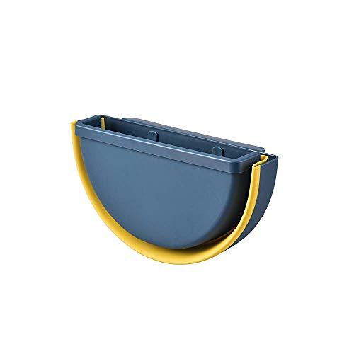 Opvouwbare Vuilnisbak Kitchen, Opknoping Folding Trash Can met 2 soorten Opknoping Openingen, Geschikt voor Keuken Kantoor Badkamer Tuin Car,Blue