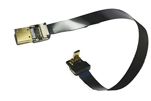 Black FFC HDMI 20CM FPV HDMI Cable Micro HDMI Male 90 Degree Angled to Standard HDMI Male Full HDMI Normal HDMI for panasonic lumix GH4 blackmagic BMPCC Sony Alpha Sony A5000 A6000 A7S A7R