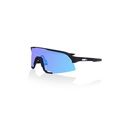 Yangjing-hl Sand Bike Riding Espejo Gafas Deportivas Tres Piezas Full Blanco y Negro Standard + Azul