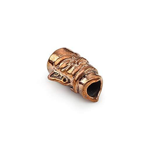 De múltiples Fines 2 unids/Lote Pulpo Cuchillo Cuentas de latón jabalí Legal Perlas Paraguas Cuerda Colgante Rojo Cobre Paracord Perlas DIY para Hacer Bricolaje (Color : B)