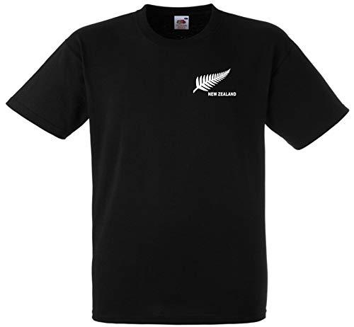New Zealand Rugby Fútbol / Fútbol Nacional / Cricket Equipo Camiseta Jersey - Negro, Extra Grande