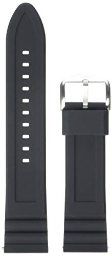 Fossil Unisex 22mm Silicone Interchangeable Watch Band Strap, Color: Black (Model: S221304)