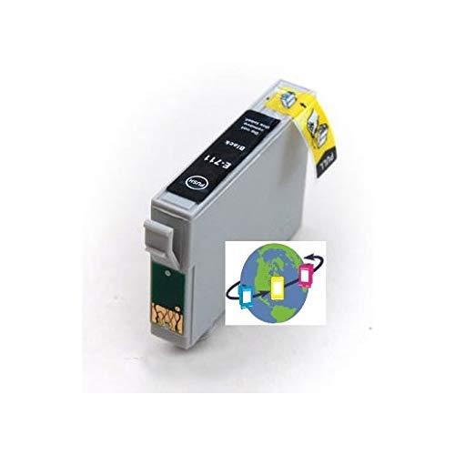 T0711 - Cartucho de Tinta Compatible con Epson (Negro)