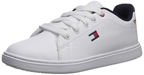 Tommy Hilfiger Baby Kids' Iconic Court Sneaker, White, 9 Medium US Toddler