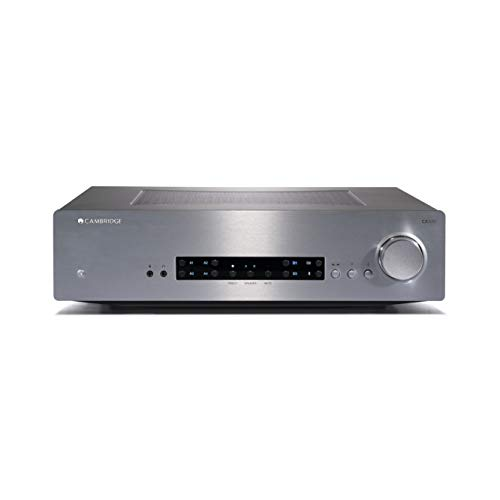 Cambridge Audio CXA80 Stereo Two-Channel Amplifier with Built-in DAC - 80 Watts Per Channel (Silver)