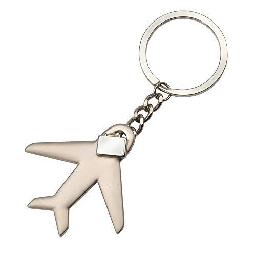 Flugzeug mit Koffer Schlüsselanhänger Metall in Geschenkbox | Geschenk für Männer | Pilot | Dekoration | Damen | Herren | Käpitän | Reisen | Jet | fliegen | Urlaub | On Board | Stewardess
