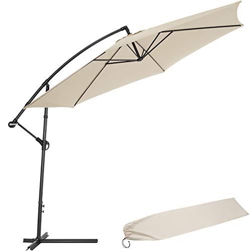 TecTake 3,5m Sombrilla Parasol de para terraza jardín protección Solar UV (Beige | No. 400622)