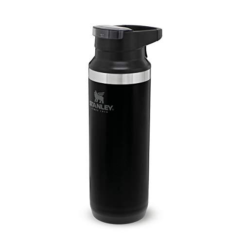 Stanley Adventure Switchback Travel Mug Doppelwandiger, vakuumisolierter Kaffeebecher für Kaffee & Tee, | Hält Getränk heiß oder kalt |BPA-frei | Spülmaschinenfest, Matte Black, 0.47 L