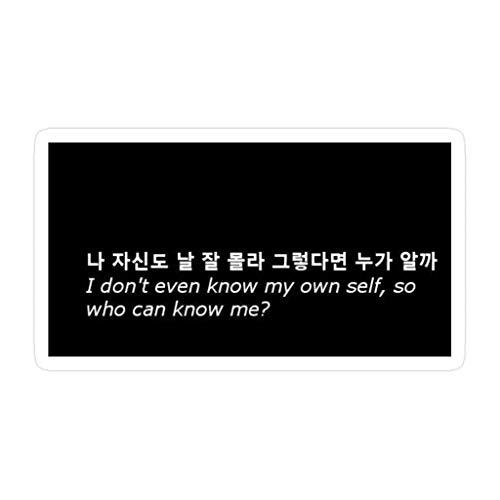 Lplpol 3 pegatinas de Agust D The Last Lyrics Koreaneng troqueladas de pared para portátil, ventana, coche, botella de agua de 4 pulgadas