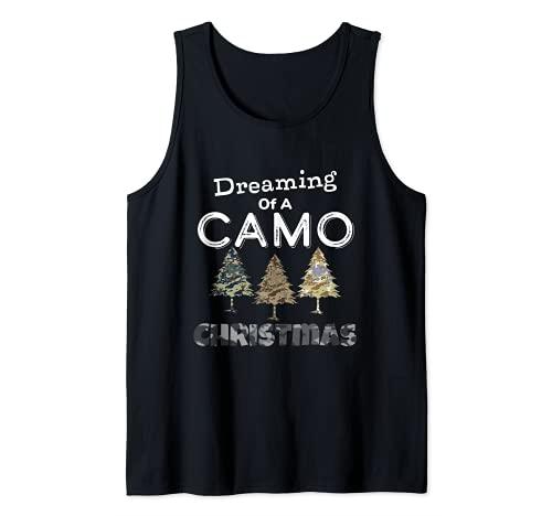 Camo Christmas Trees Gift For Men Dreaming Of Camo Christmas Tank Top