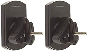 Monoprice Low Profile 22 lb Capacity Speaker Wall Mount Brackets  Pair  Black
