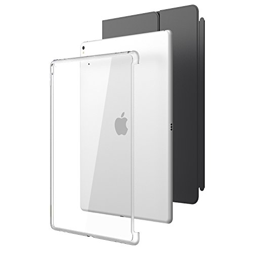 New iPad Pro 12.9 2017 Case, i-Blason  Compatible with Official Smart Cover and Smart Keyboard  Clear Hybrid Cover Case for Apple iPad Pro 12.9 2017 Release,Not Fit iPad Pro 12.9 2018 (Clear)
