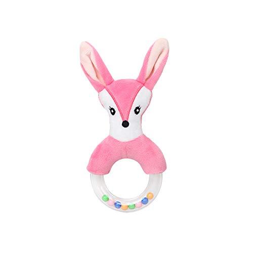 Xiaojie Lindo creativo de dibujos animados conejo zorro ovejas anillo mano campana bebé peluche juguete