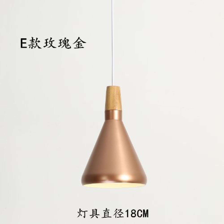 LuckyLibre Creative Moderne Mode Pendentif Luminaires Plafond Lampe Lustre Chambre Salon Cuisine,E Rose or lumière sur le diamètre de l'outil 18Cm