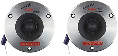 Audiopipe ATR-3721 350 Watt Max 3.75 Inch Aluminum Horn and 1 Inch Titanium Car Audio Super Bullet Tweeter for Vehicle Speaker Sound System, Pair