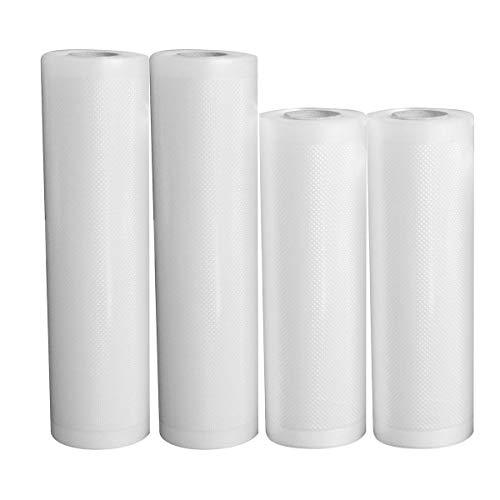Nicoone Rollos de sellado al vacío, 4 rollos de 5 m para sellar alimentos al vacío, bolsas de almacenamiento para todas las máquinas selladoras al vacío, 28 x 500 cm + 20 x 500 cm